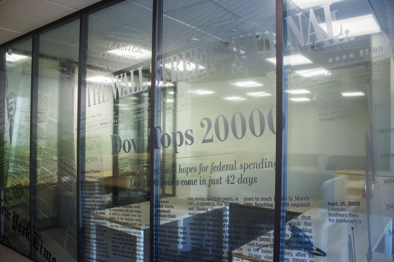 Office Clear Window Vinyl