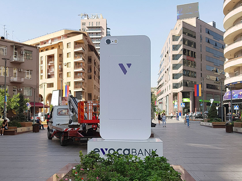 Outdoor Promotional Pylon Stand