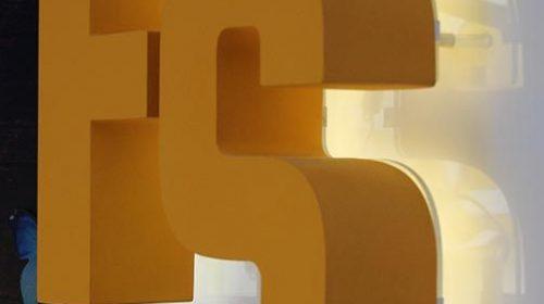 Painted Aluminum backlit letters