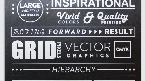 Printed Decorative Sign