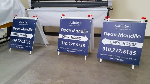 Realtor A-frame yard sign