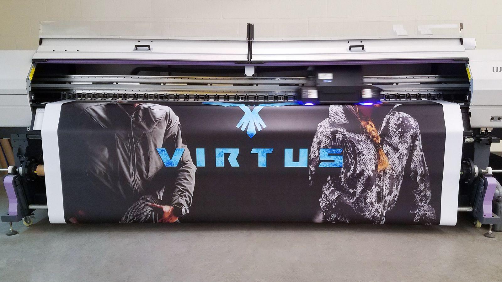 Virtus banner printing process
