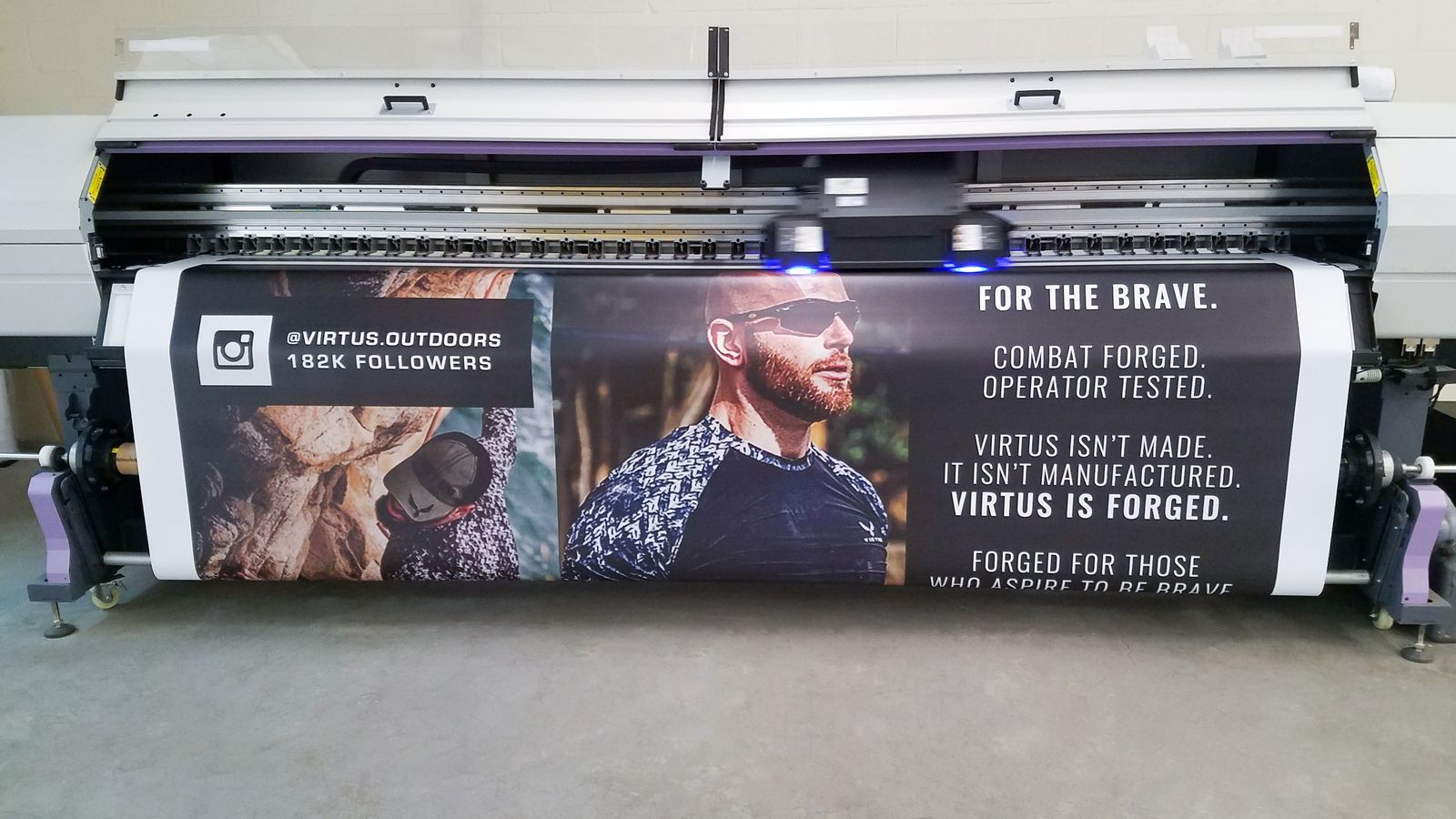 Virtus banner printing