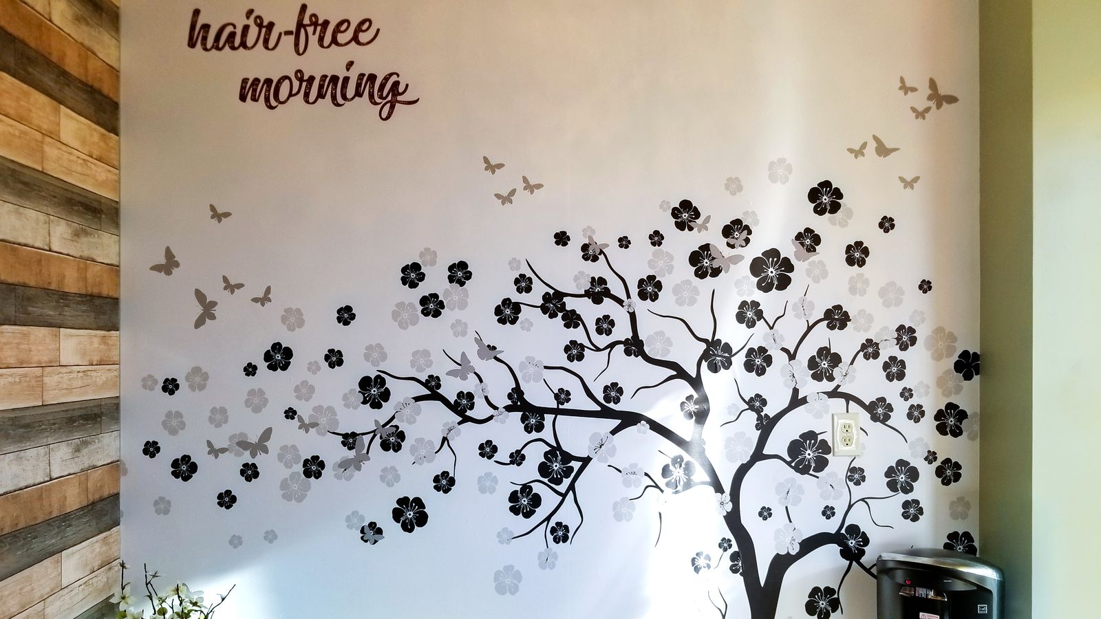 Wall decal for a beauty salon