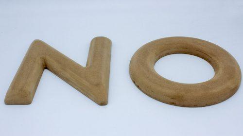 Wooden 3D Cut Letters