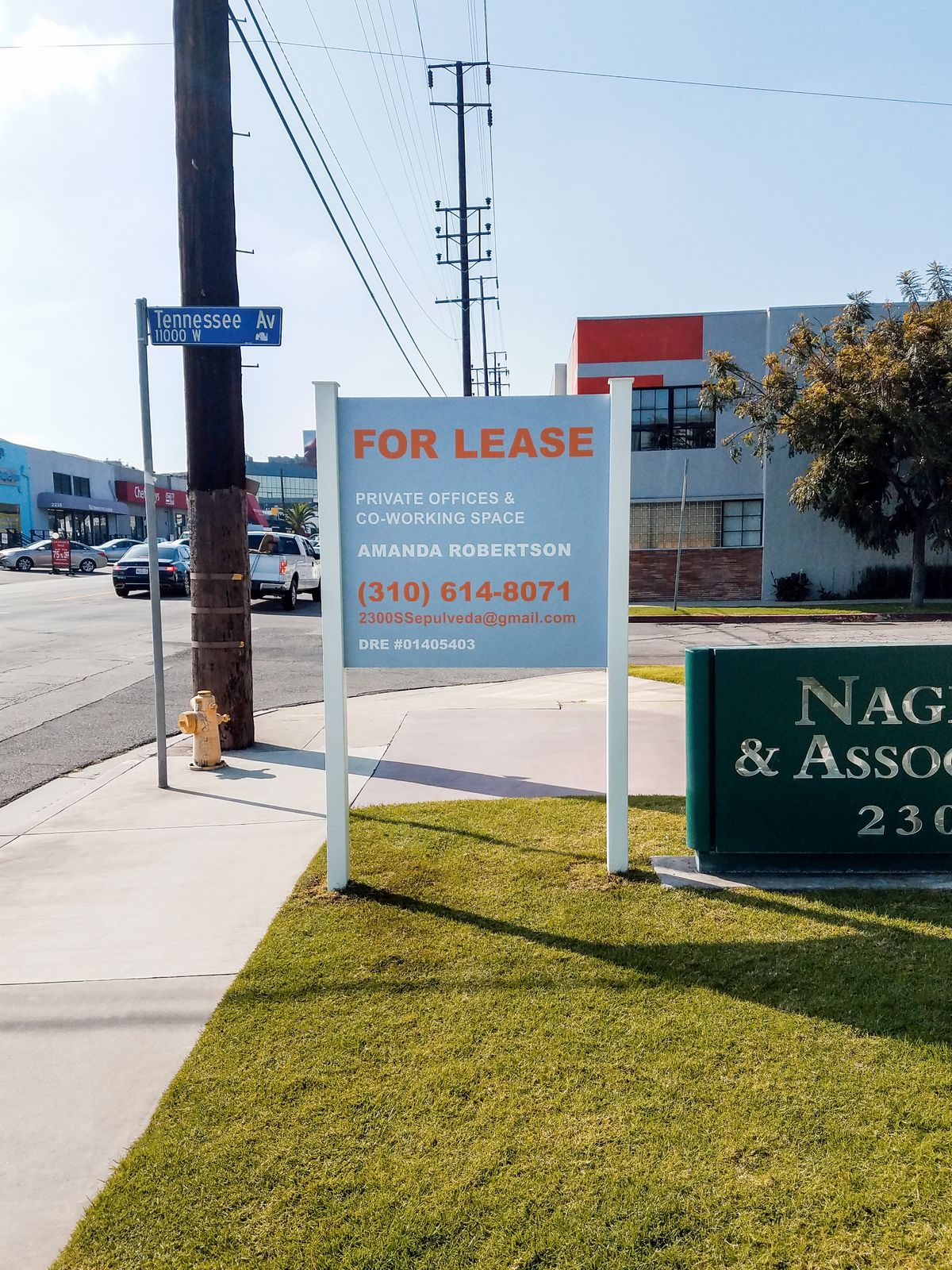 Wooden For Lease Sign