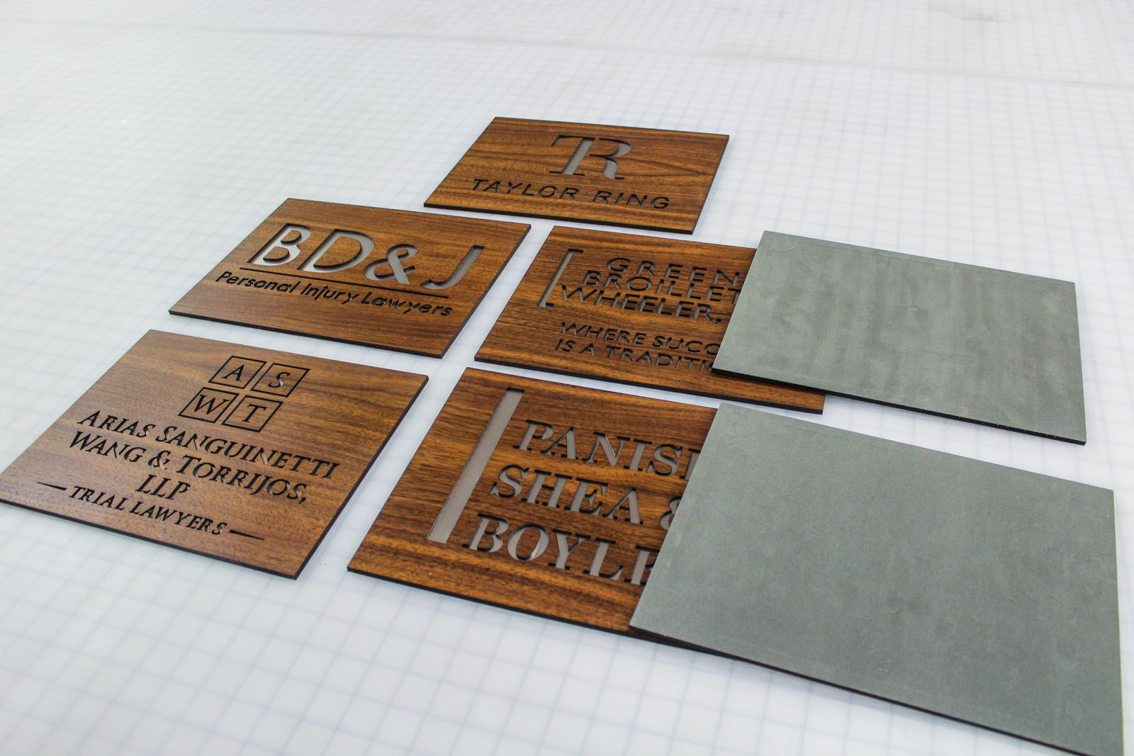 Wooden nameplate signs