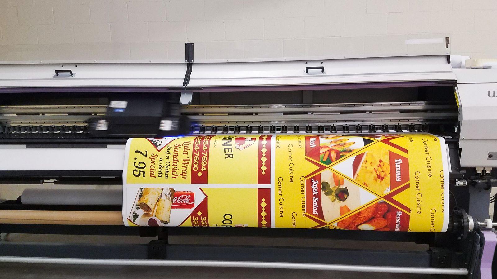 adhesive decal printing process