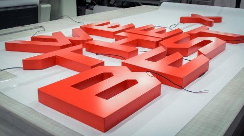 aluminum backlit letters