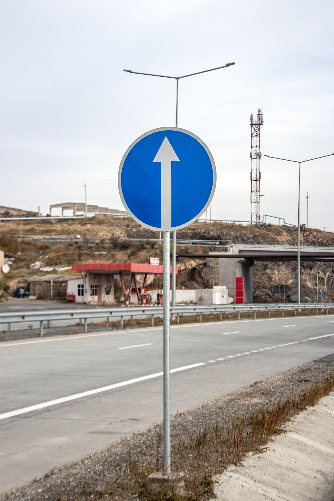 aluminum directional sign