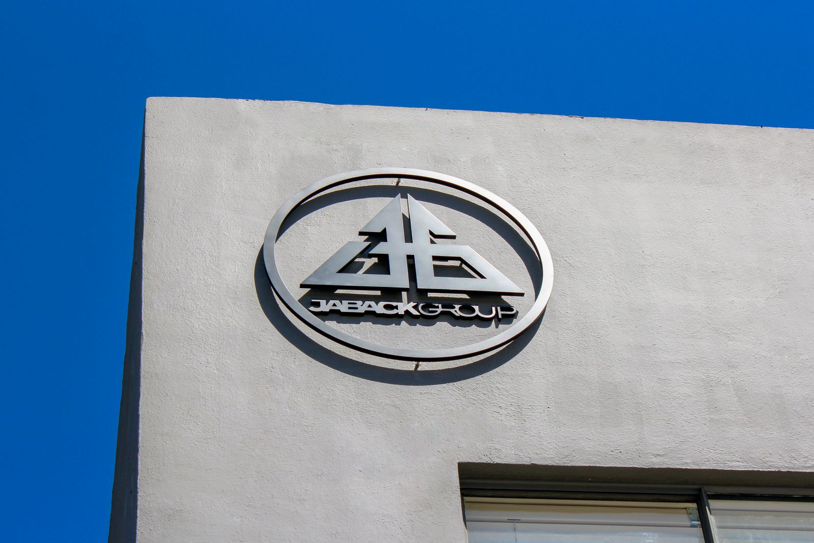 aluminum sign on building