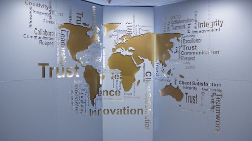 aluminum world map sign