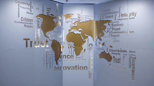 aluminum world map sign
