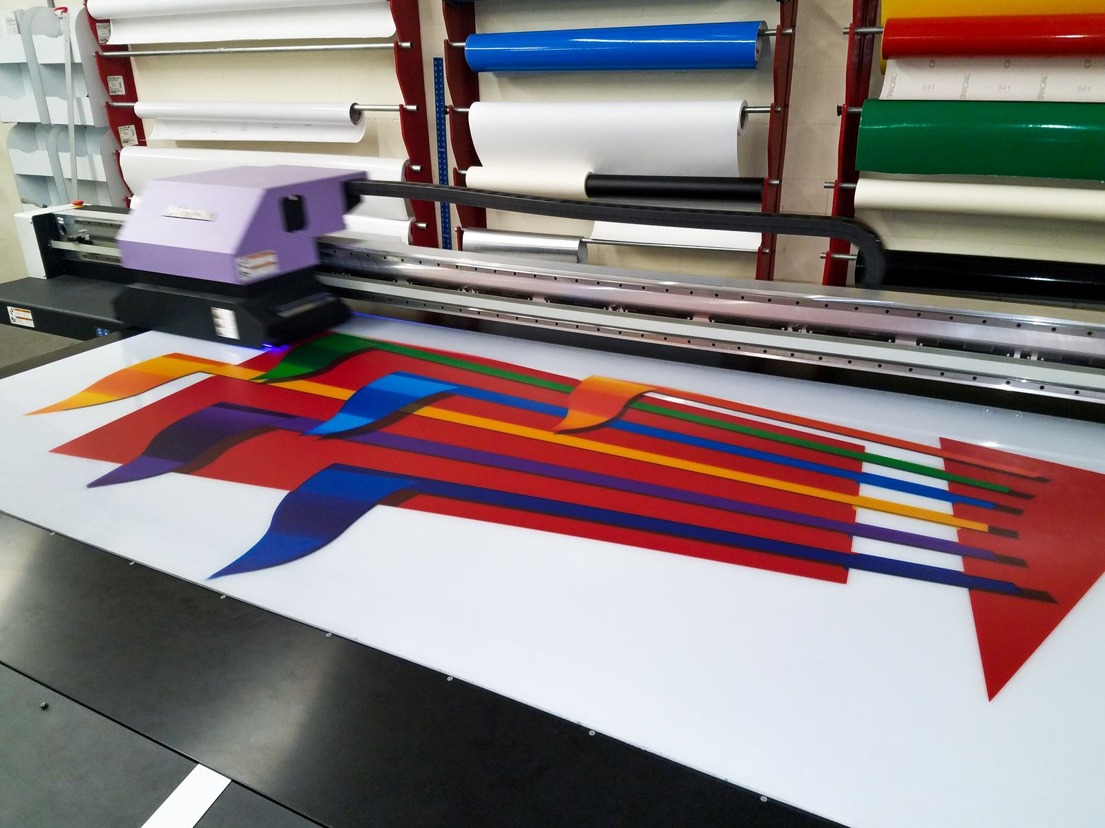 big acrylic sign printing