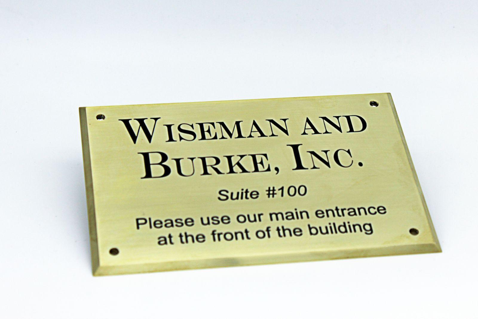 brushed aluminum nameplate