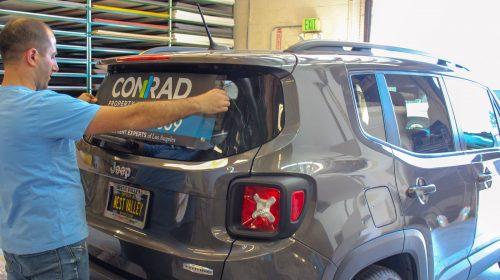 car wrap application