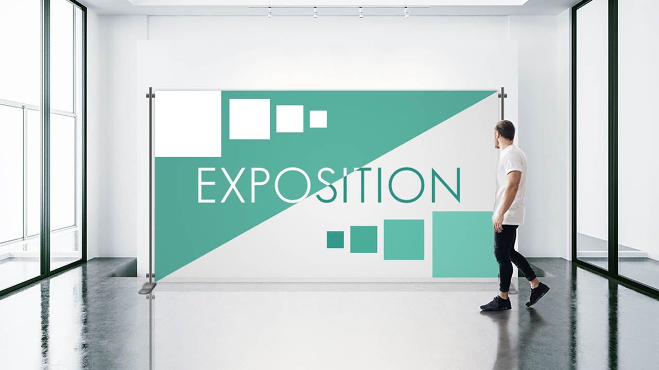 exposition banner sign