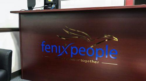 front desk vinyl lettering