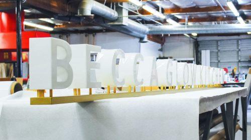illuminated dimensional letters