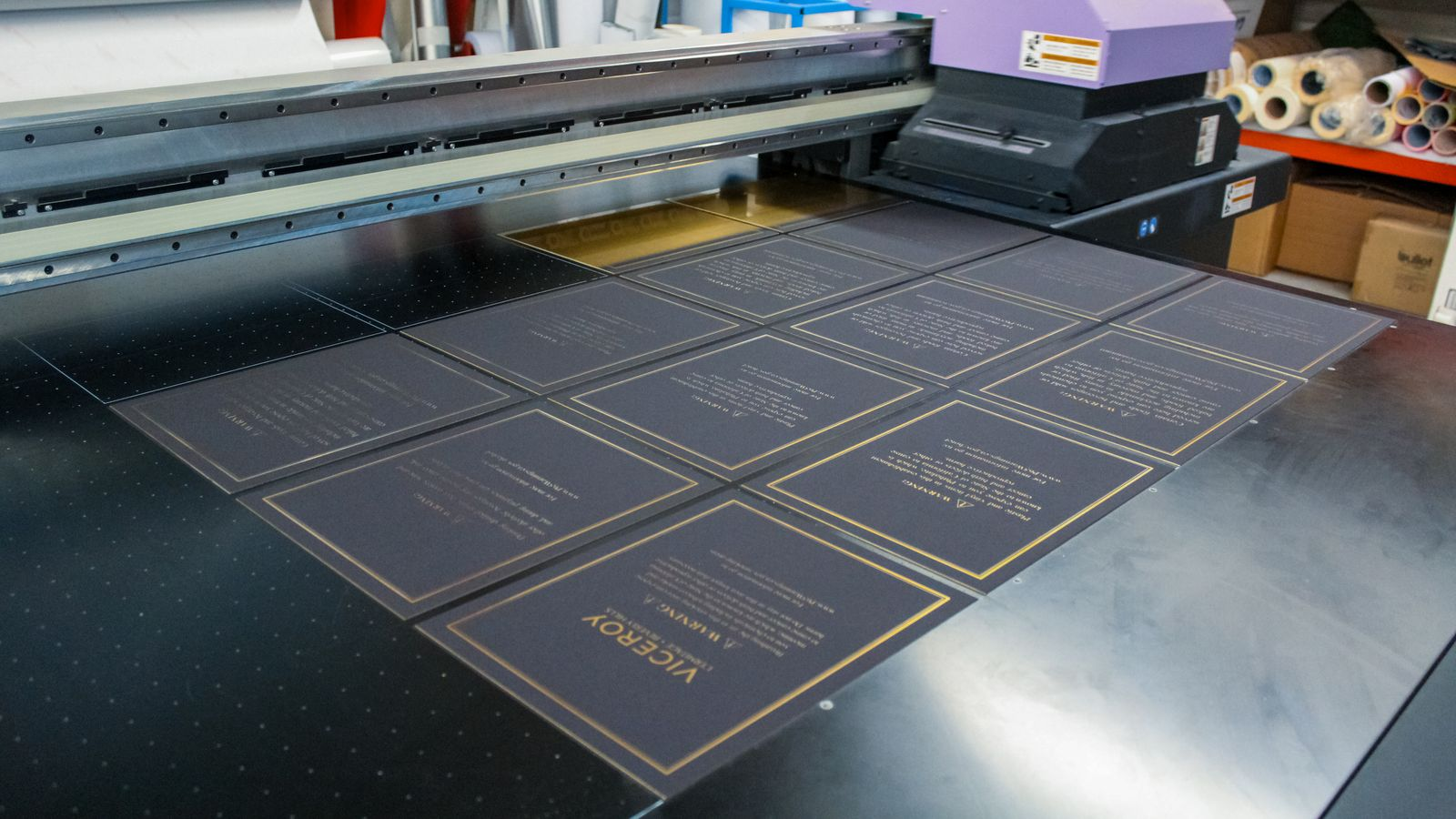 large format uv printing process