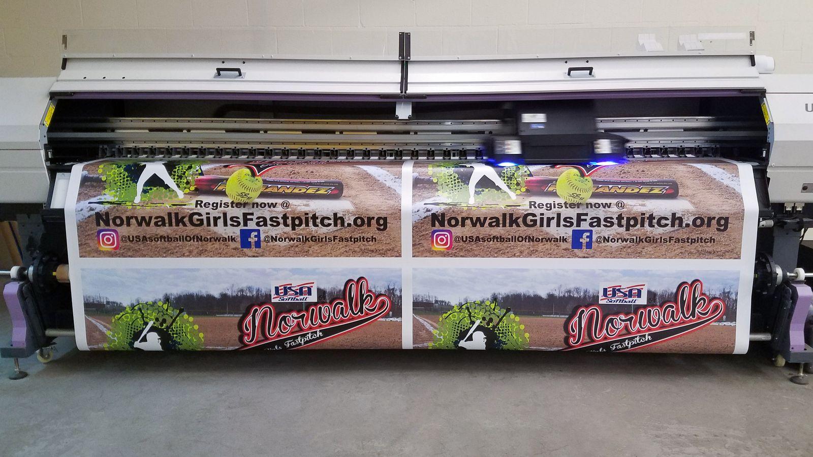 norwalk Girls banner printing