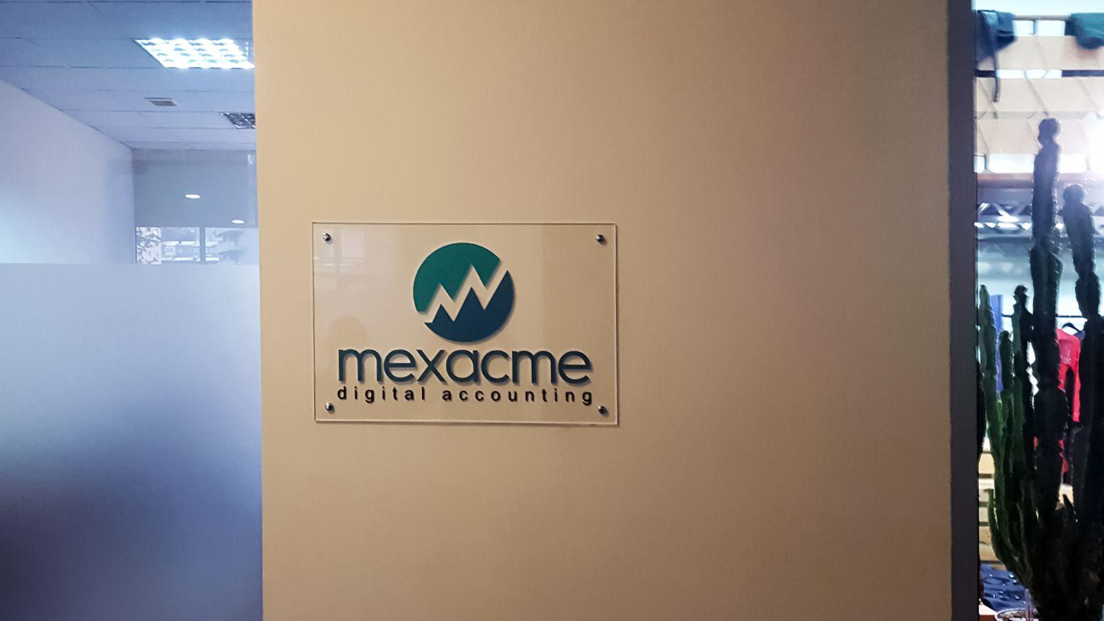 office acrylic sign