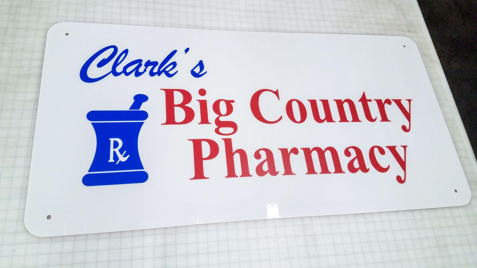 pharmacy aluminum sign