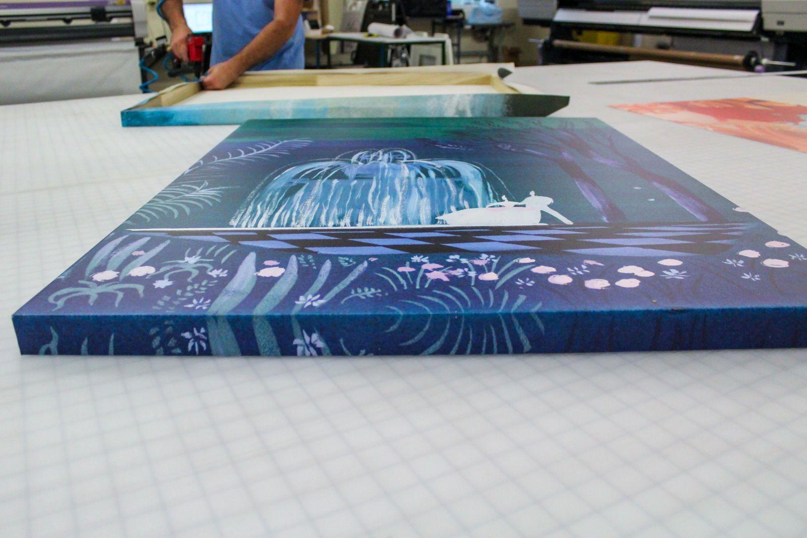printed decorative canvas