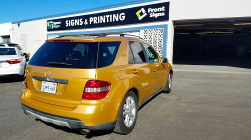 vibrant car wrap for promotions