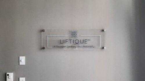 wall mounted acrylic signage