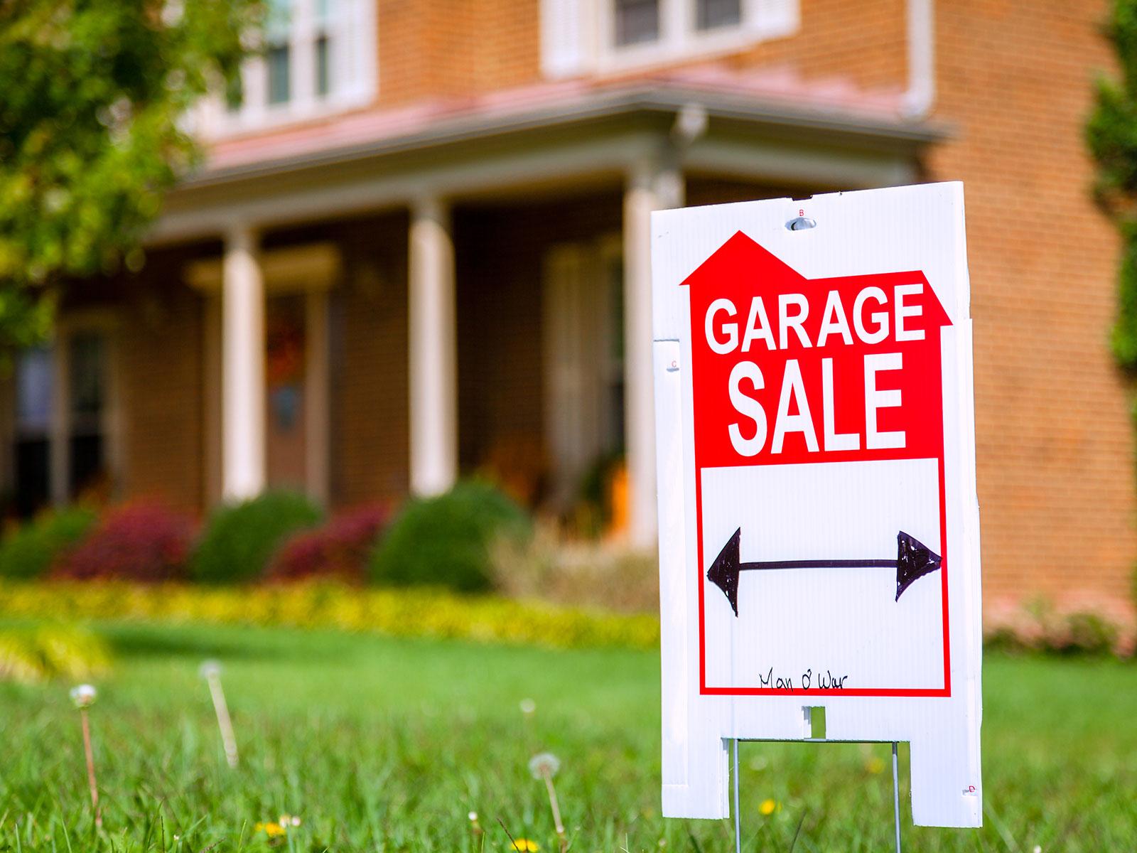 garage garden sign