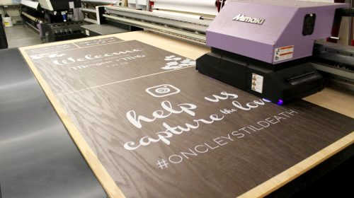plywood signage printing