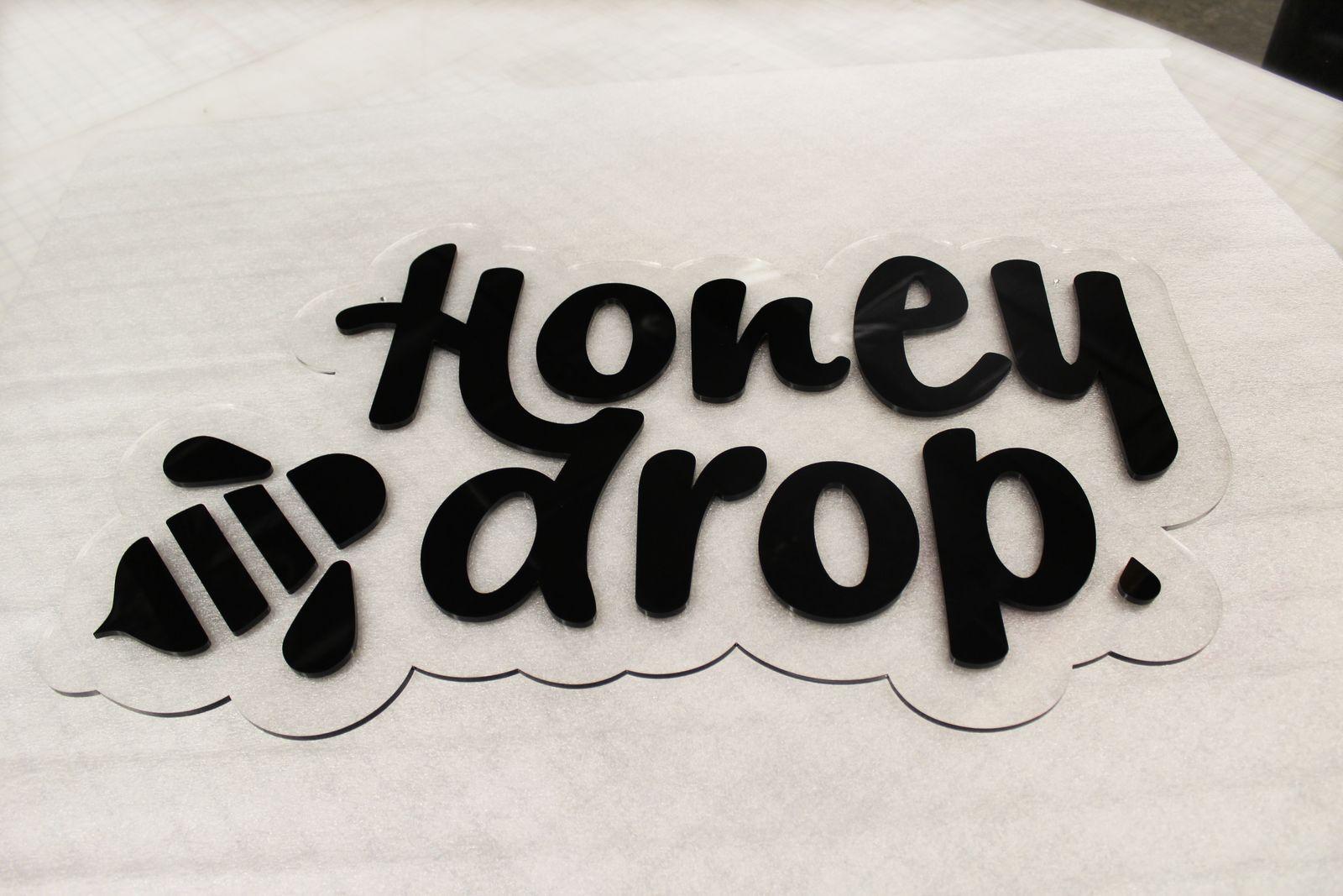cast acrylic logo sign