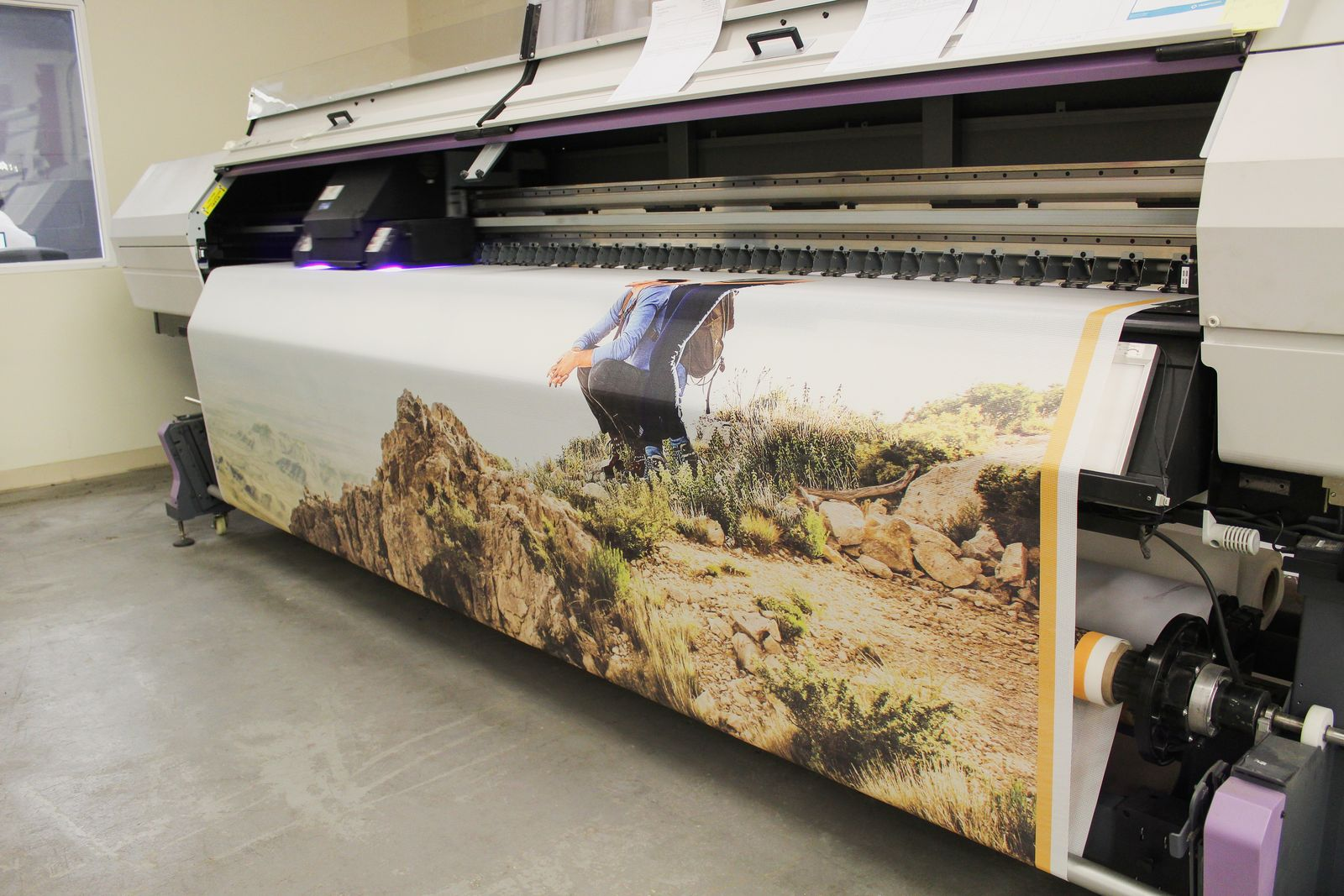 custom banner printing process