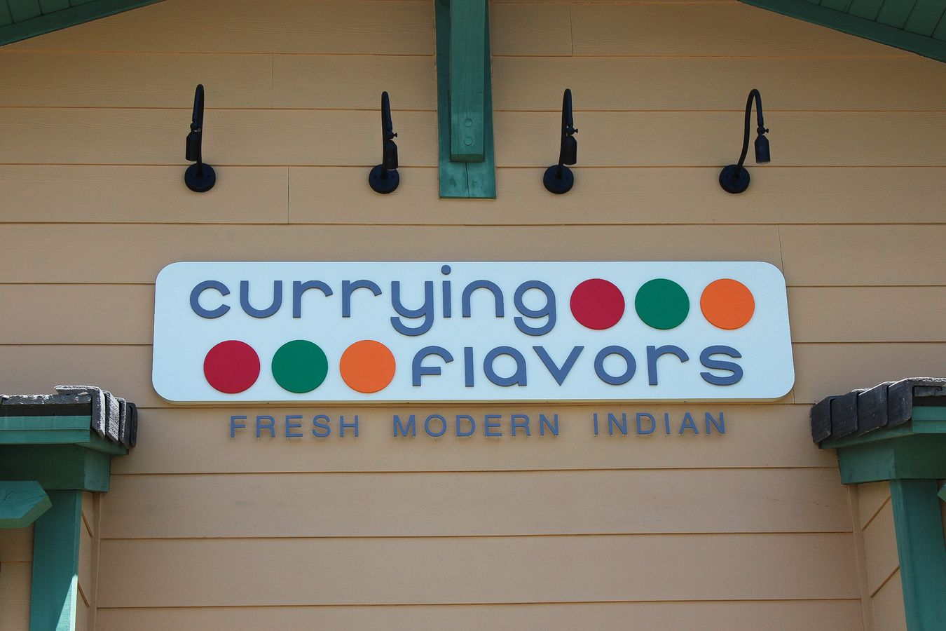 Currying flavors restaurant sign