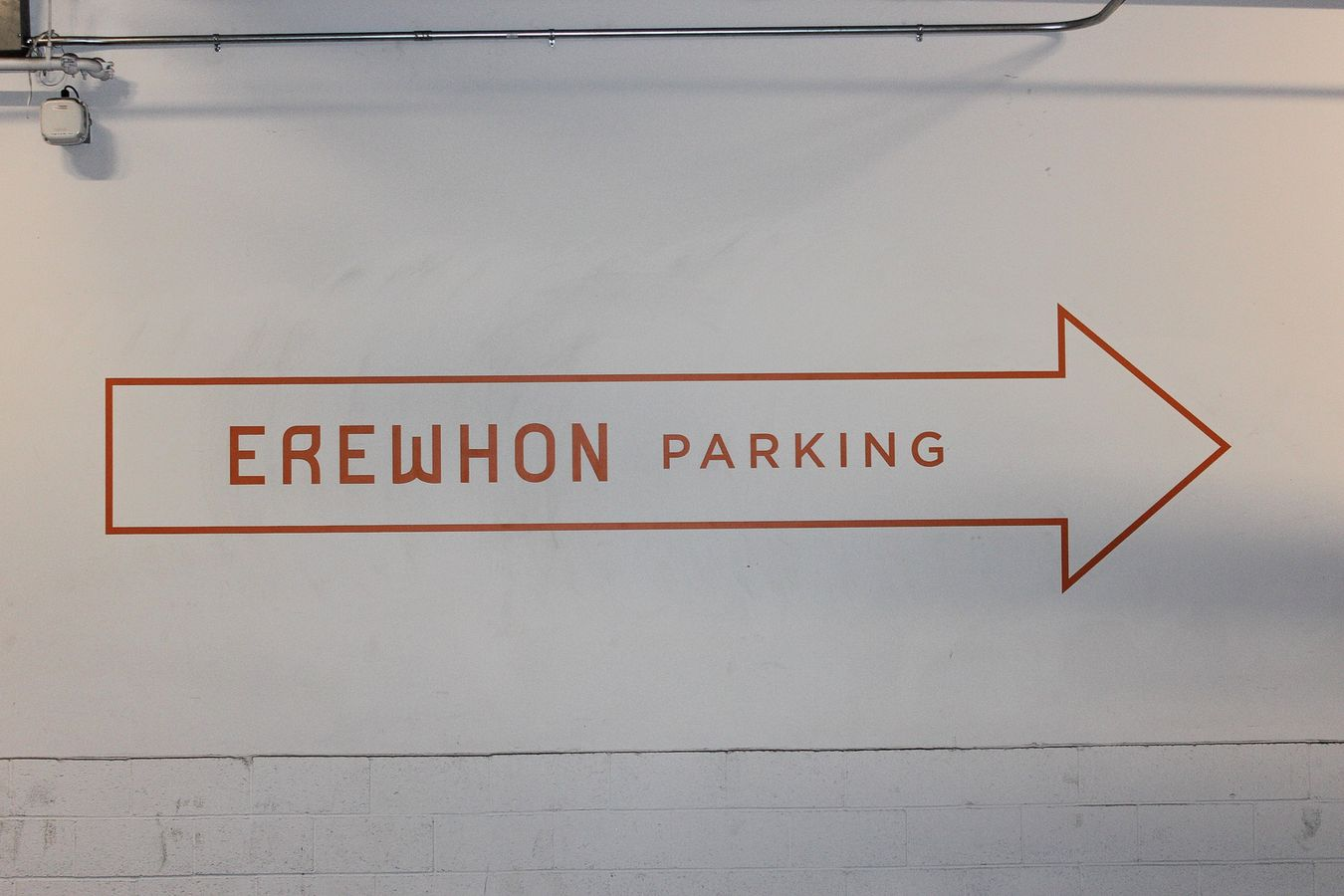 Erewhon parking directional sign
