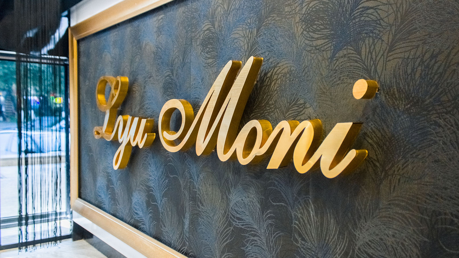 aluminum pin-mounted letters