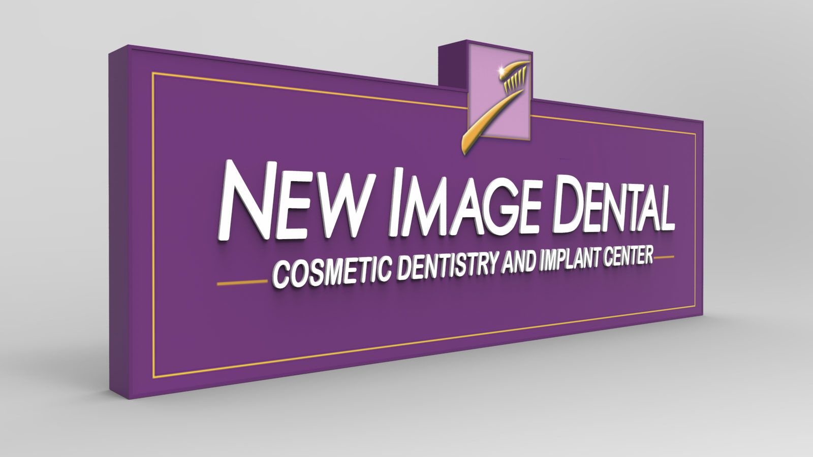 business sign 3d rendering