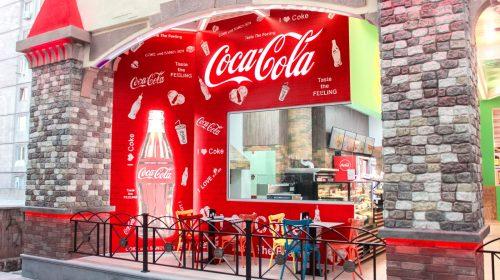 coca-coca branded wall