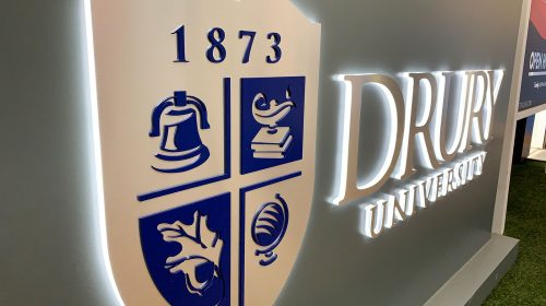 drury university logo sign