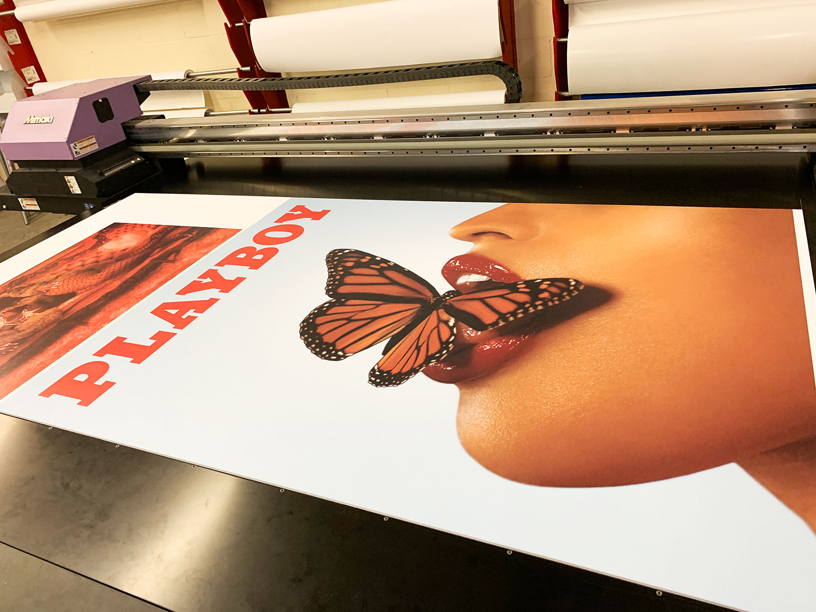 foamboard sign printing process