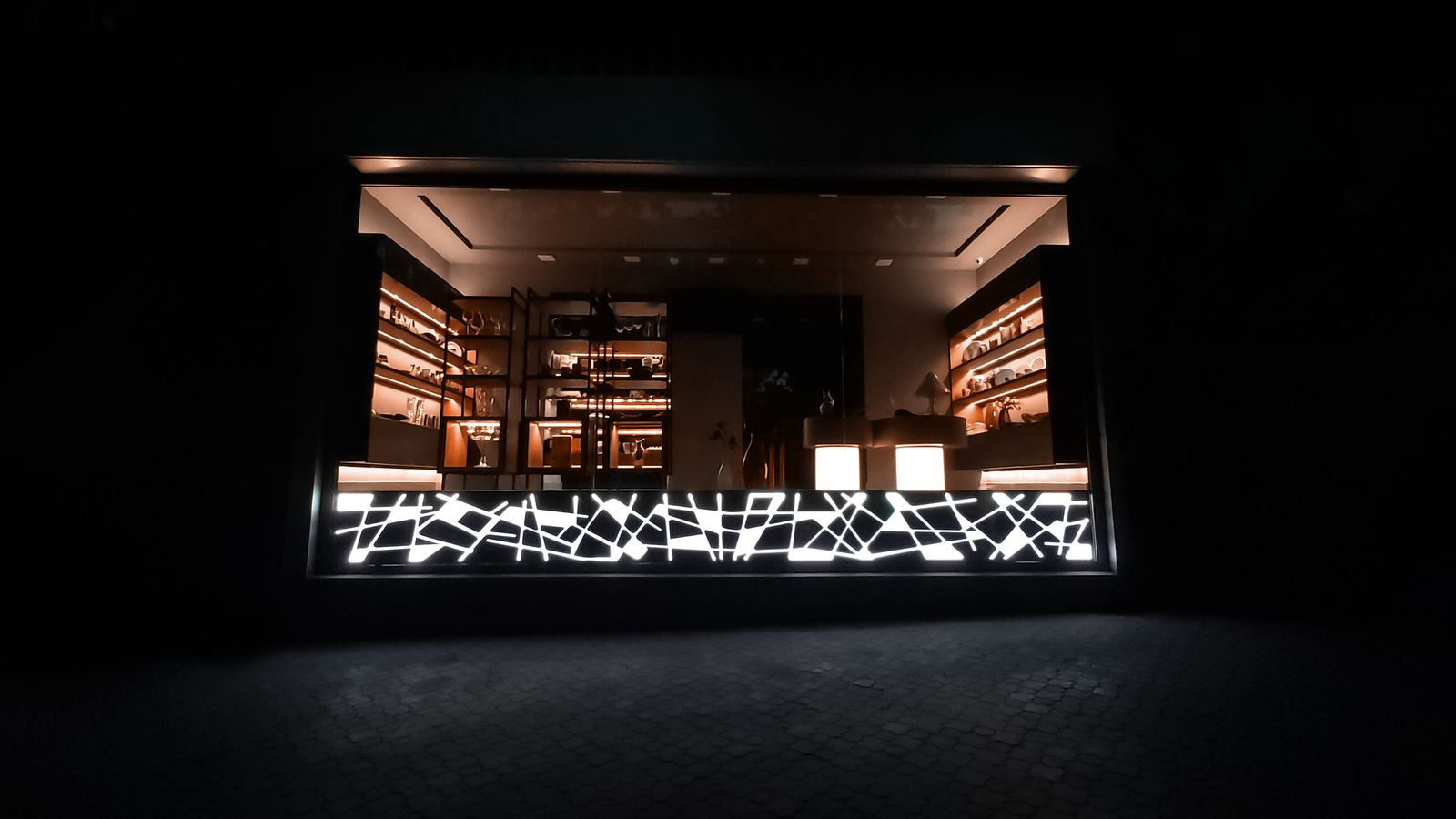 light up storefront decoration