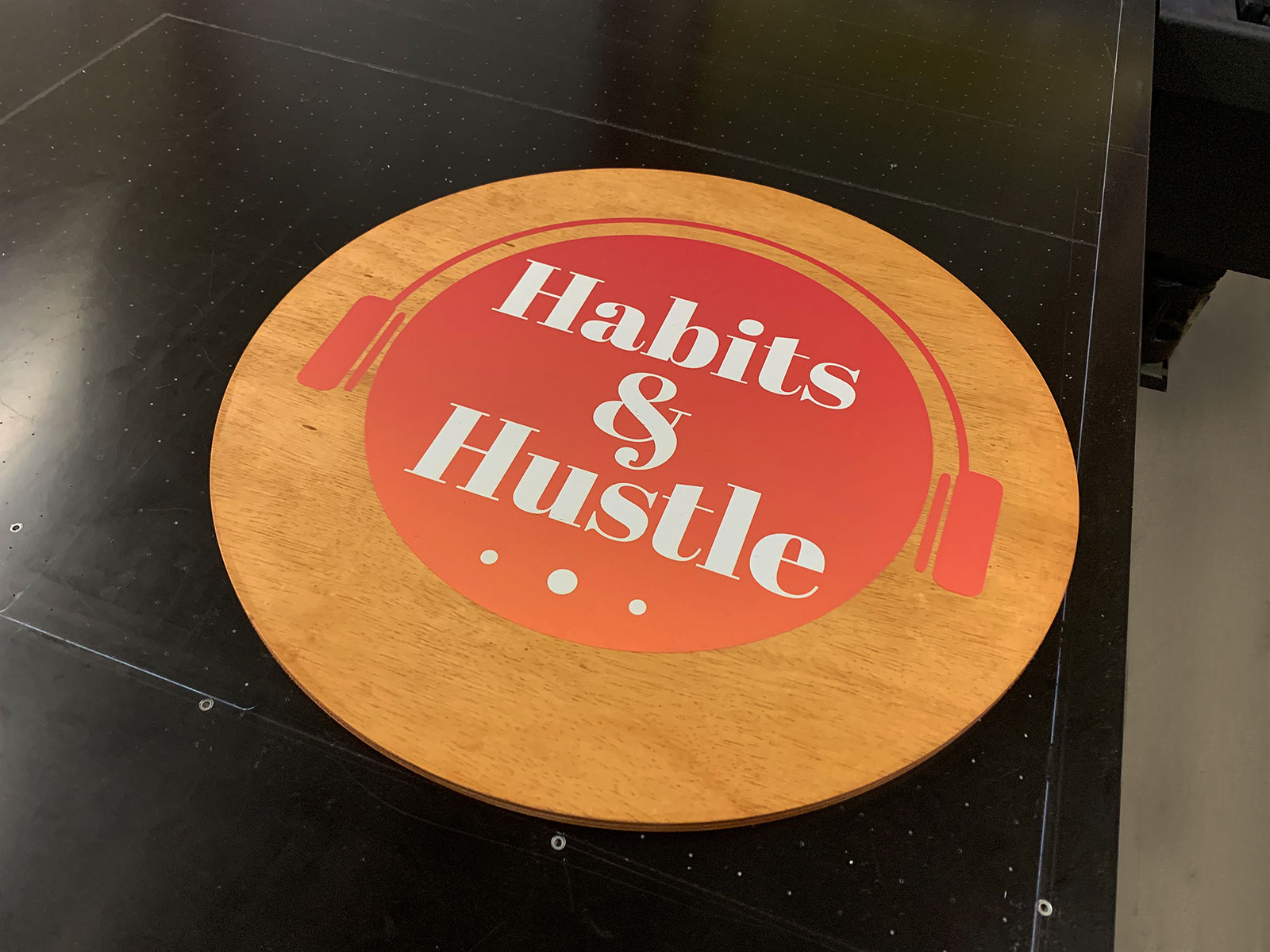 printed plywood sign