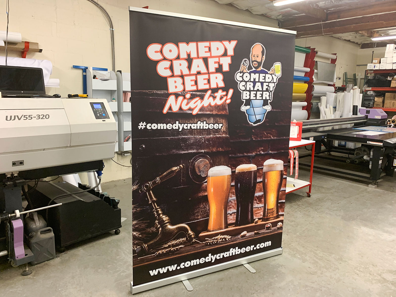 retractable banner for craft beer