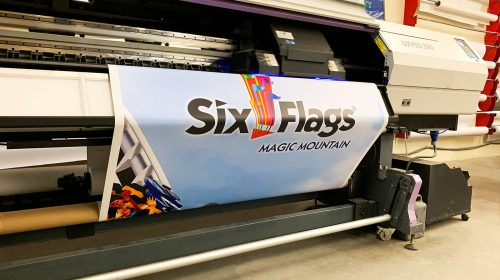 six flags banner printing