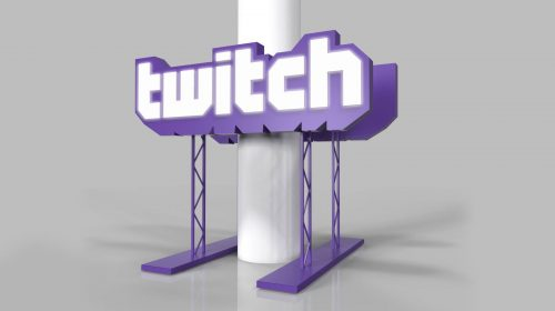 twitch stand 3d rendering