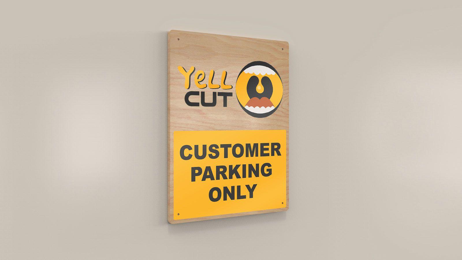 wooden parking sign design