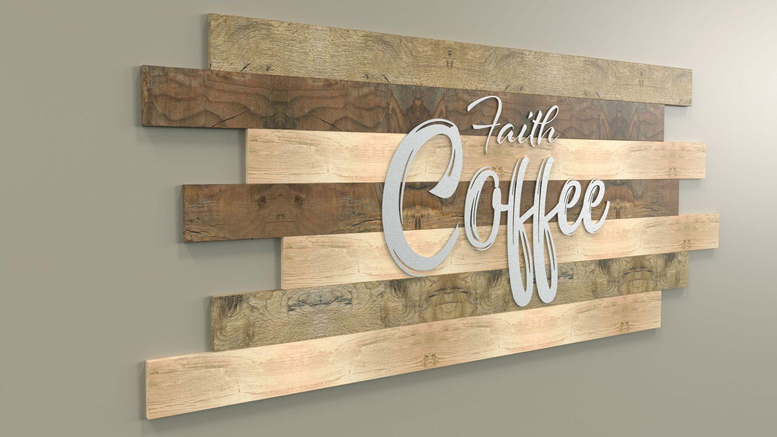 wooden sign 3d rendering