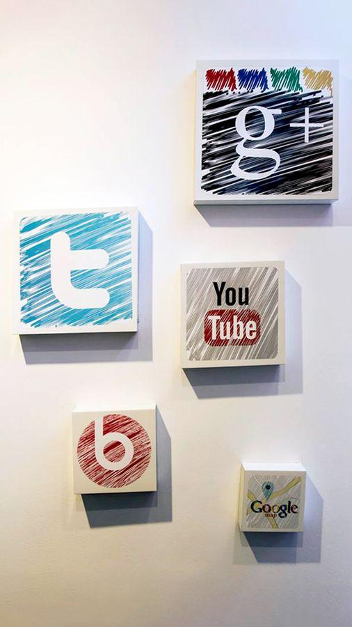 PVC social media icons