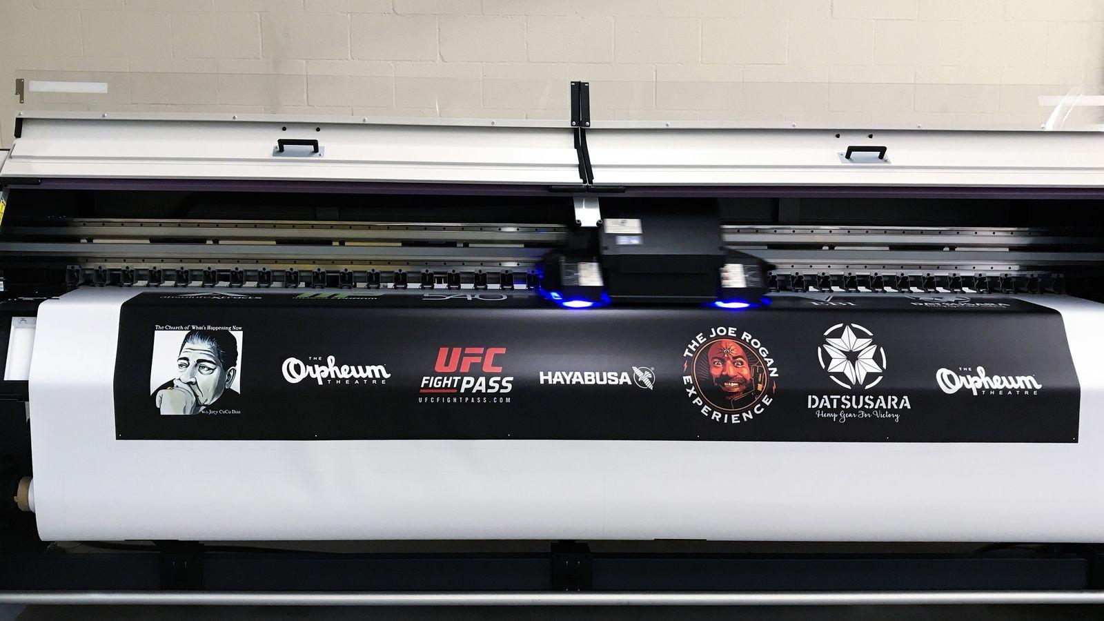 UFC banner printing